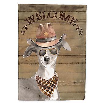 Italian Greyhound Country Dog Flag Canvas House Size