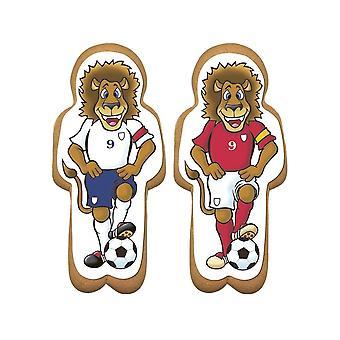Culpitt Lebkuchen Fußball Löwe Zucker Plaques