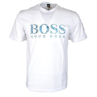 Hugo Boss Teecher 4 bawełny drukowane Logo T-shirt biały