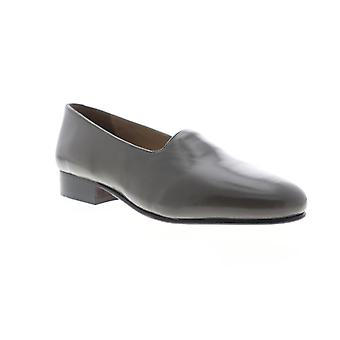Giorgio Brutini Crawley  Mens Gray Leather Dress Slip On Loafers Shoes