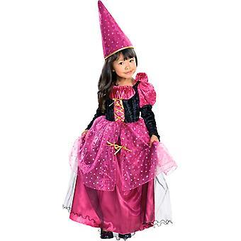 Magenta Mystic Witch Halloween Dress Girls Costume