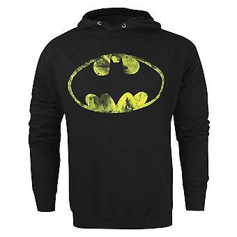Batman Classic Distressed Logo Men-apos;s Hoodie