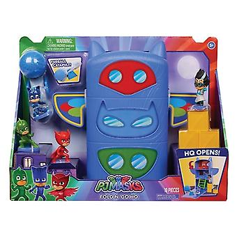 Pj masks fold and hold playset