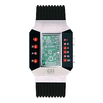 THE ONE Watch Men's Binary Wristwatch Split Screen SC102R5