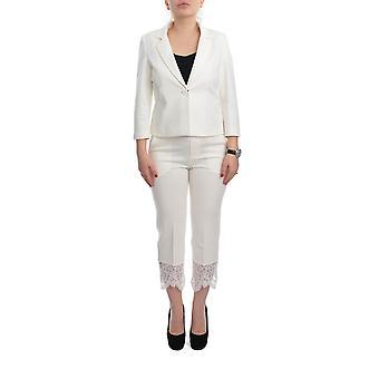 Doppel-Set 201tp212b00018 Damen's Weiße Viskose Jumpsuit