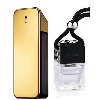 Paco Rabanne One Millione For Him Inspired Fragrance 8ml Black Lid Bottle Hanging Car Vehicle Auto Air Freshener
