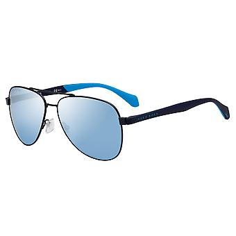 Hugo Boss 1077/S FLL/3J Matte Blue/Azure Mirror Sunglasses