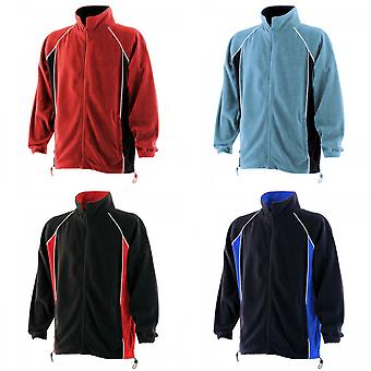 Finden & Hales Mens Piped Anti-Pill Microfleece Jacket