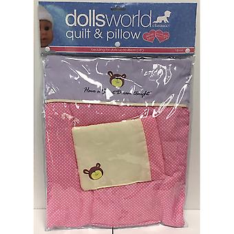 Dolls World Dolls Deluxe Quilt And Pillow