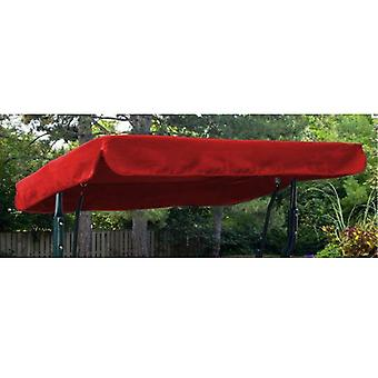 Red Water Resistant 3 Seater Replacement Canopy for Garden Hammock Swing Seat