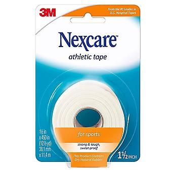 Nexcare athletic cloth tape, 1.5 inch x 12.5 yards, 1 ea