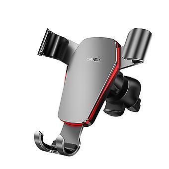كافيل المعادن الجاذبية باليد واحدة عملية تنفيس الهواء سيارة جبل حامل الهاتف سيارة 360 درجة التناوب للهاتف الذكي 4.0-6.5 بوصة