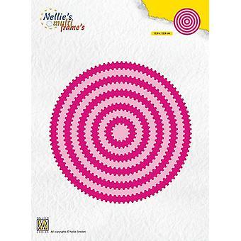 ネリー&アポスの選択の多フレームダイ - 円形波MFD128 129x129mm