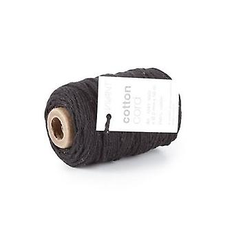 Vivant Cord Cotton fine black - 50m x 2mm