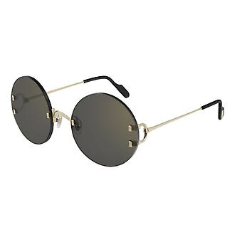 Cartier CT0152S 001 Gold/Grey Sunglasses