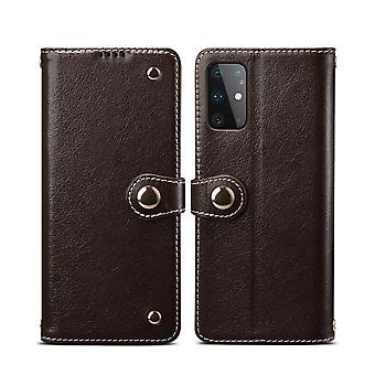 Pour Samsung Galaxy S20 Plus Case Genuine Leather Luxury Wallet Case Brown
