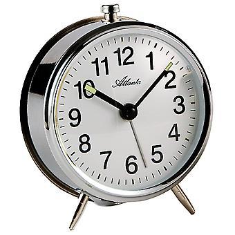 Атланта 1051/19 механический будильник металлические механические серебро раунд