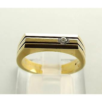14 carat Christian gold ring with zirconia