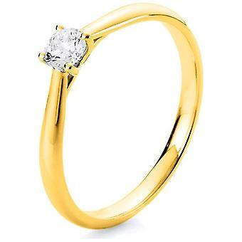 Bague diamant - 14K 585/- Or Jaune - 0,25 ct. - 1A290G456 - Largeur de l'anneau: 56