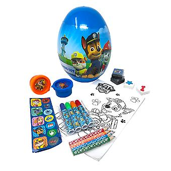 Paw Patrol Childrens/Kids Egg Shaped Stationery Set