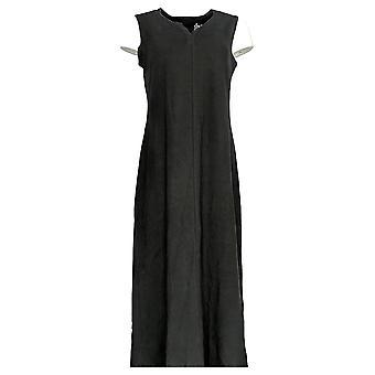 Denim & Co. Kleid ärmelloses perfektes Jersey Maxi Kleid schwarz A290128