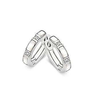 Usted siente Milán mujer 925 plata ronda blanco cristal cúbico cristal FASHIONEARRING
