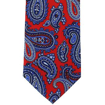 Michelsons of London Classic Printed Paisley Silk Tie - Red