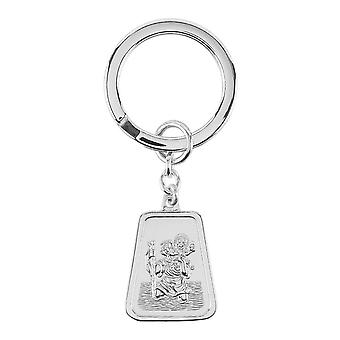 Orton West St Christopher Key Ring - plata