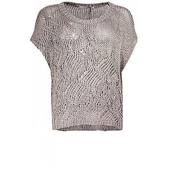Lauren Vidal Sand Loose Knit Top