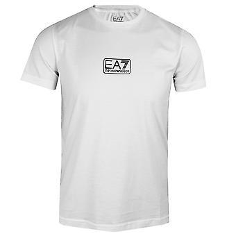 Ea7 emporio armani men's white small logo t-shirt