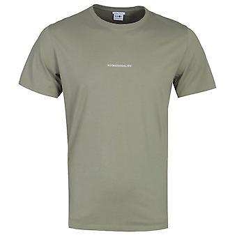 NN07 Ethan 3208 No Nationality Print Khaki Green T-Shirt