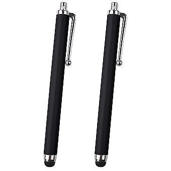 2x Schwarz Capacativ Stylus Pen Tablets Smartphone Universal