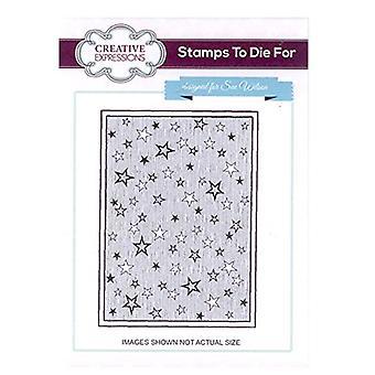 Creatieve uitdrukkingen feestelijke postzegels - UMS639 Shooting Stars Achtergrond