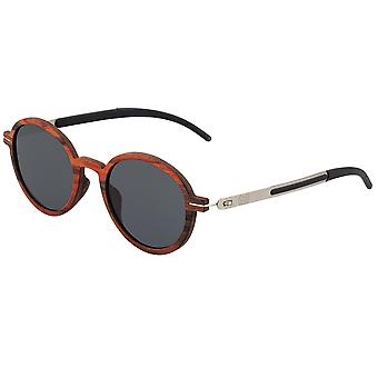 Earth Wood Toco Polarized Sunglasses - Red Rosewood/Black