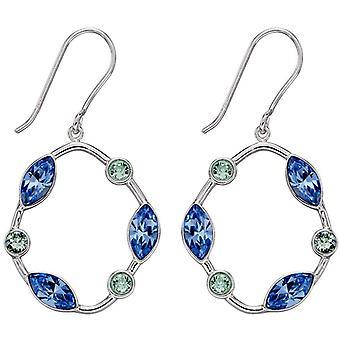 Elemente Silber Bio Form Ohrringe - Silber/Blau