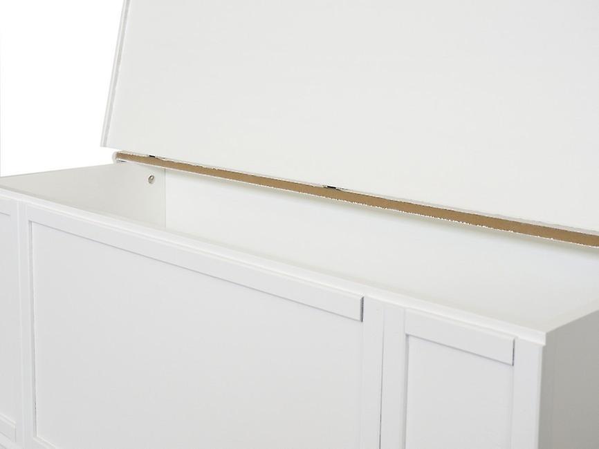 Cassapanca Demetra Colore Bianco in Legno, L100xP35xA45 cm