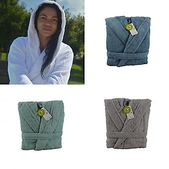 ARTG Unisex Adults Organic Bathrobe With Hood