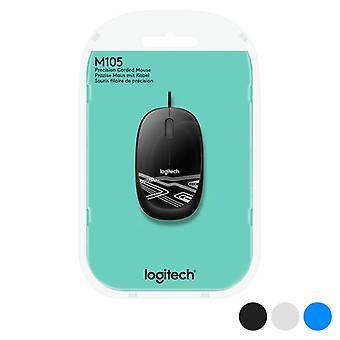 Optical mouse Logitech M105 1000 dpi USB/White