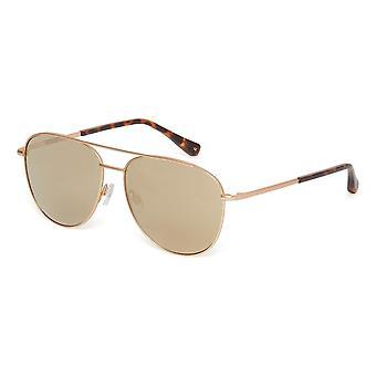 Ted Baker Demi TB1524 401 Matte Gold/Grey Gold Mirror Sunglasses
