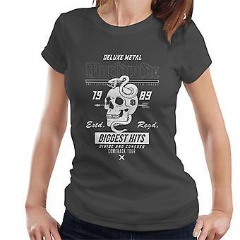 Teilen & erobern weltweit Metall Schädel Schlange Frauen's T-Shirt