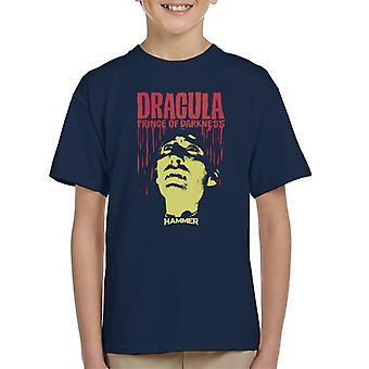 Hammer Dracula Prince Of Darkness Poster Kid's T-Shirt