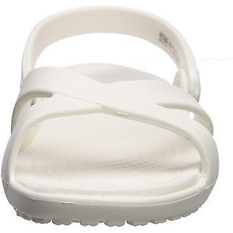 Crocs Women's Meleen Cross Band Sandal Slide, Oyster, 11 M US