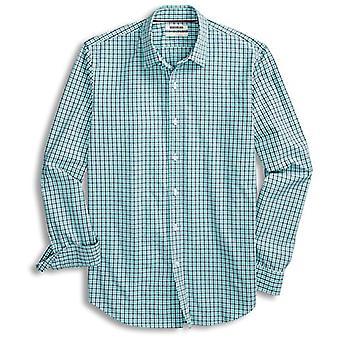 Goodthreads Men's Standard-Fit Langarm Gingham Plaid Poplin Shirt, blau/A...