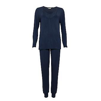 Cyberjammies Nora Rose Scarlett 1438 Naiset's Navy Sininen Neuloa Pyjama Set