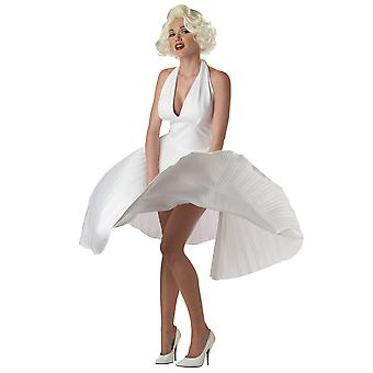 Deluxe Marilyn Monroe 1950s Fashion Icon Pleated Dress Up Womens Costume