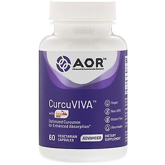 Advanced Orthomolecular Research AOR, CurcuViva, 60 capsules végétariennes