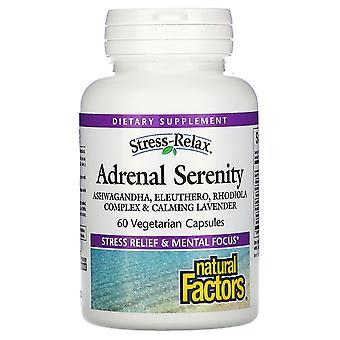 Natural Factors, Stress-Relax, Adrenal Serenity, 60 Vegetarian Capsules