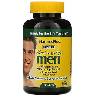 Nature's Plus, Livets källa, Män, Multi-Vitamin och Mineral Tillägg med Wh