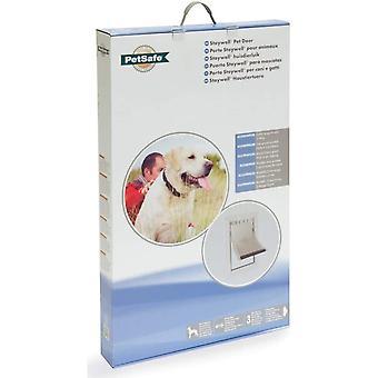 Staywell Heavy Duty Aluminium Dog Door - White - 69x42cm