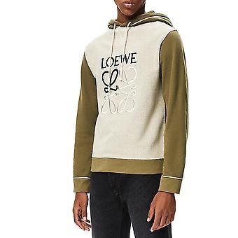 Loewe H526341x943962 Men's Bege/green Cotton Sweatshirt